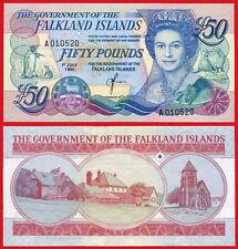 MALVINAS  FALKLAND ISLANDS 50 libras pounds 1990 Pick 16  SC- / aUNC