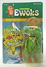 1985 Star Wars EWOKS KING GORNEESH from TV Series figure AMERICAN Mint on Card