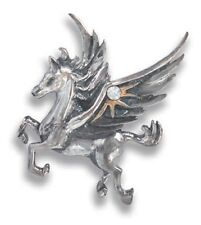 PEGASUS OF THE STARS Sterling Silver Pendant and chain by Anne Stokes COM12