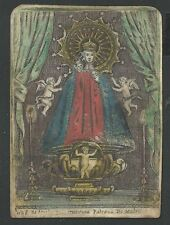 Antique inciscione de 1700 de la Virgen holy card santino image pieuse estampa