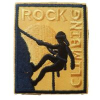 Rock Climbing Iron On Patch Sew on Embroidered Transfer adventure climbing