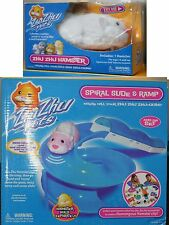 ZHU SPIRAL SLIDE & RAMP plus CHUNK HAMSTER Gift Set Original Lot 2009 NEW
