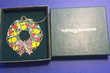 Colorful Wreath by Reed & Barton 1980's Discontinued New in Gift Box