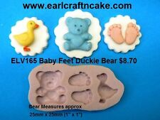 Baby Feet Bear Duck  Silicone Mould Make Cake Toppers Gum Paste Cake Decorating