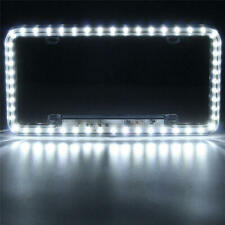 Universal 12V White 54 LED Light Car Front Rear Number License Plate Frame RJH