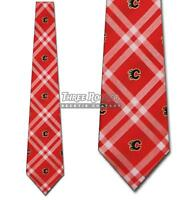 Flames Tie Calgary Flames Neckties Officially Licensed Mens Neck Ties NWT