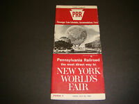 Pennsylvania Railroad Timetable July 25,1965 New York Worlds Fair Form 1,1st Ed.