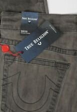 NEW True Religion Jeans Rocco No Flap SE Relaxed Skinny Size 38 Dark Spark Grey