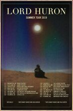 LORD HURON Summer Tour 2019 Ltd Ed New RARE Poster +FREE Indie Alt Rock Poster!