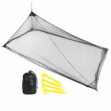 REDCAMP Single Camping Mosquito Net for Bed Compact and Lightweight Black