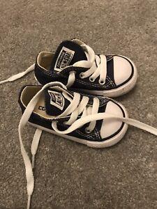 Navy Converse Infant Size 4