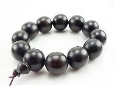 Huge Stretchy Tibetan 12 20mm Black Sandalwood Prayer Beads Wrist Mala Bracelet