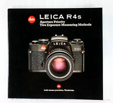 Leica R 4s Sales Brochure - printed May 1984 - 40 pages