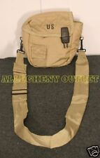 US Military Army 2 QT QUART Desert Tan CANTEEN COVER KHAKI w/ SLING CLIPS VGC