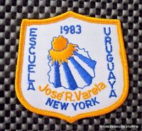 "JOSE R  VARELA EMBROIDERED SEW ON PATCH ADVERTISING UNIFORM BADGE 3"" x 3 1/4"""