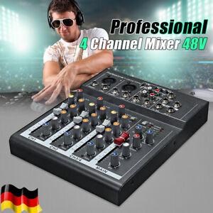 4 Kanal Mischpult Live Studio Audio DJ Mixer USB DJ-Mischpult Console