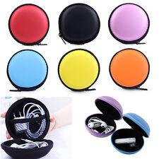 für Ohrhörer Kopfhörer SD Karte Mini Rund Schutztasche Aufbewahrungs Case Tasche