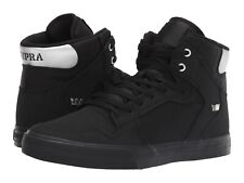 NEW NEW SUPRA VAIDER BLACK CHROME BLACK SURF MX SNOW SKATEBOARD SPORTS SHOES 6.5