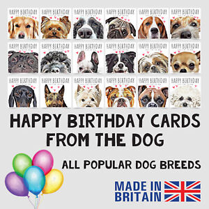 Happy Birthday Card From The Dog Cute Pet Wife Mum Mother Mom Popular Dog Breeds