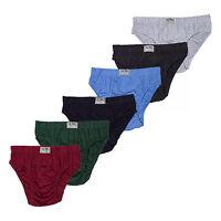 Men's ULTRA Cotton Bikini Brief Underwear - Assorted Colors (6 Pack)