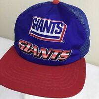 Vintage New York GIANTS Hat NEW ERA Dupont Visor Baseball Truckers Mesh Cap RARE