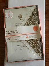 Martha Stewart Celebrate Wedding Bell Invitation Suite 20 Invitations & response