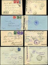 ITALY 1940-43 CENSORED + REGISTERED...4 ITEMS