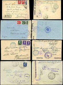 ITALY 1940-43 CENSORED + REGISTERED...4 ITEMS