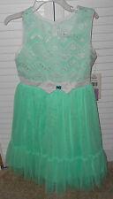 Jona Michelle Mint with Chevron lace Dress Size 6 NWT