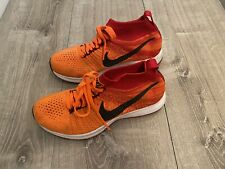 Nike Girls Zoom Pegasus All Out Flyknit Orange Running Shoes Size 5Y
