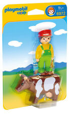 Playmobil 1.2.3 Farmer with Cow 6972 (for Kids 18 months & up)