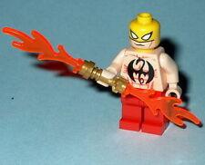 SUPER HERO #16R Lego Iron Fist UNLEASHED-Shirtless Red Custom Genuine Lego