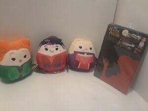 "Hocus Pocus Halloween Squishmallows  -""The Sanderson Sisters"" & Pillowcase"
