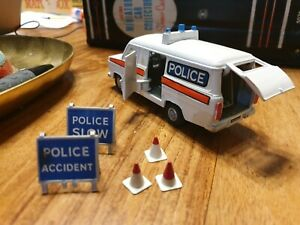 Dinky No 269 Ford Transit Police Van (1978) with accessories