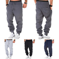 Men Loose Pants Casual Sport Trousers Tracksuit Fitness Workout Gym Sweatpants