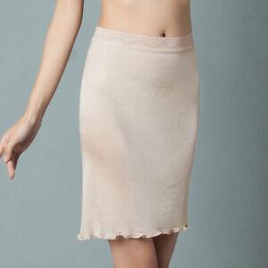 Women 100% Mulberry Silk Half Slips Underdress Petticoats Safety Mini Skirts