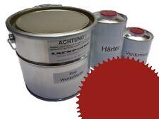 3 Litres Set 2K Revêtement de sol RAL 3013 Rouge tomate Glanz Peinture Atelier
