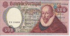 PORTUGAL BANKNOTE P177 CH11-8460 500 ESCUDOS 1979 , PREFIX US, XF