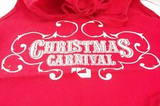 Christmas Carnival Aprons With Pockets Red