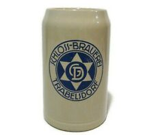 Vintage German Schloss-Brauerei Trabelsdorf Stoneware Beer Stein Mug Tankard 1 L