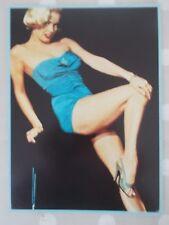 MARILYN MONROE giant postcard mounted on stiff board 1951 blue swimsuit