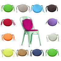 Extra Thick Tie On Round Chair Seat Cushions covers Pads Garden Dining 1/2/4/6 X