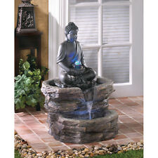 ZEN BUDDHA SERENITY WATER FOUNTAIN PATIO GARDEN YARD DECOR~D1156