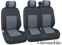 FORD TRANSIT  CUSTOM  SEAT COVERS GREY BLACK FABRIC FOR   2+1 VAN