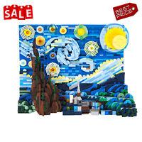 Van Gogh The Starry Night Picture Frame 1554 PCS Bricks Building Blocks Toys