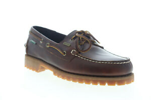 Sebago Ranger Waxy Waterproof 7002IL0 Mens Brown Wide 2E Boat Shoes Loafers