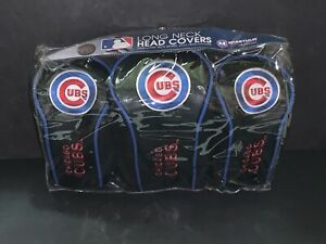Chicago Cubs HIGH QUALITY NYLON GOLF HEAD COVER SET EMBROIDERED LOGO