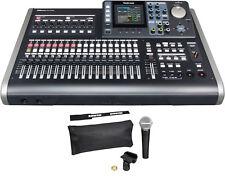 Tascam DP-24SD 24 Track Digital Portastudio w/ Shure SM58-LC Vocal Microphone...
