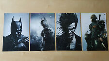 Batman: Arkham Origins 4x Art cards from Brady Games Strategy Guide