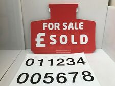 Car/Auto Pricing Sun Visor Sets X 10 For Sale Signs Compleate With Figures.